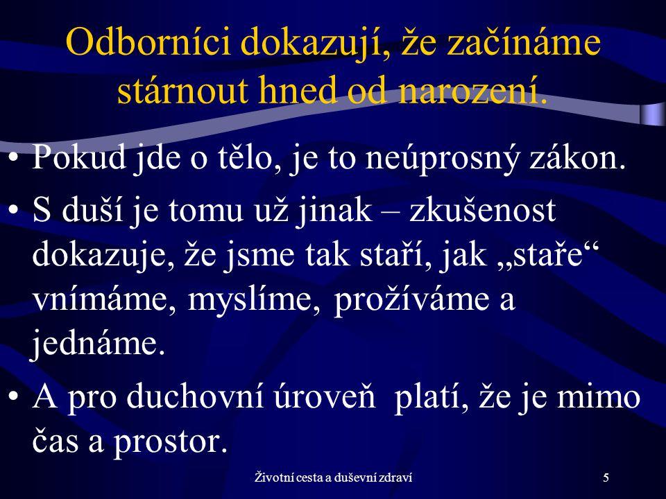 Životní cesta a duševní zdraví26 Doporučení zakladatele logoterapie Viktora E.