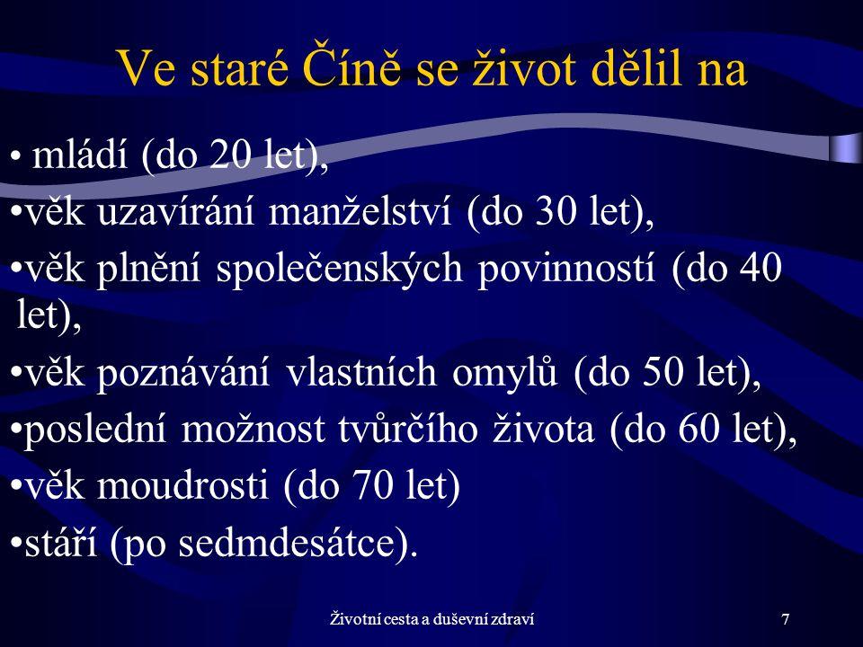 Životní cesta a duševní zdraví8 Už v 19.