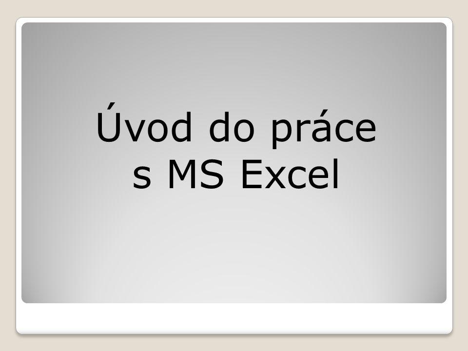 Úvod do práce s MS Excel