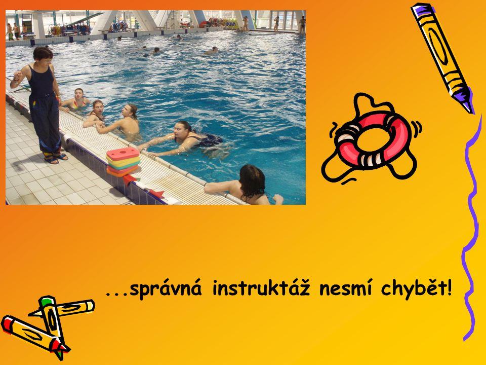Hodiny tělocviku na plaveckém stadionu v Podolí...