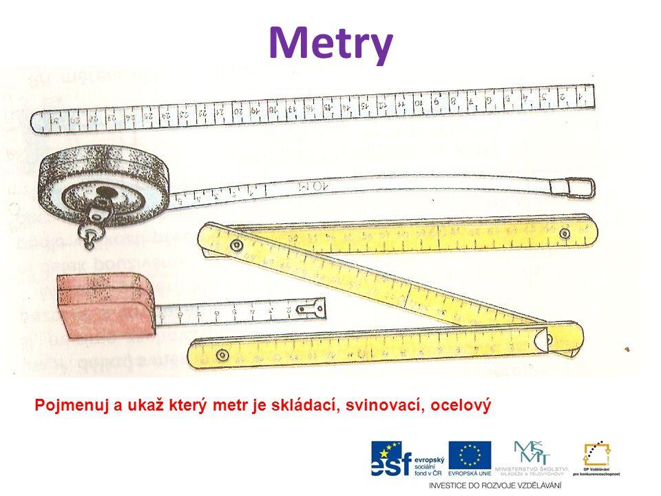 Názvy rozměrů při měření