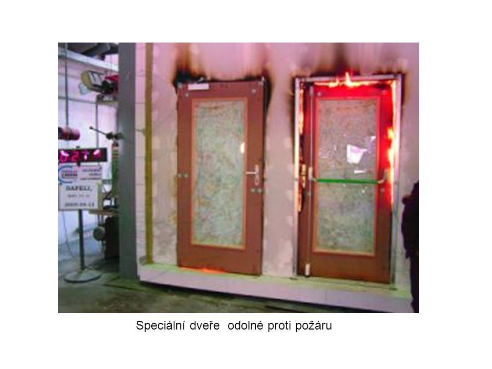 Speciální dveře odolné proti požáru