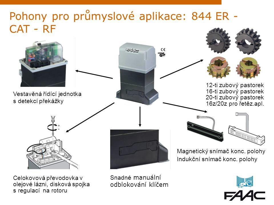Pohony pro průmyslové aplikace: 844 ER - CAT - RF Celokovová převodovka v olejové lázni, disková spojka s regulací na rotoru Snadné manuální odbloková