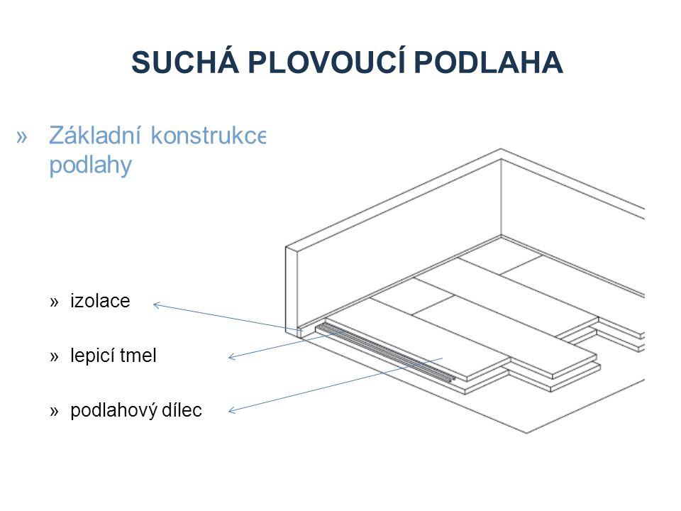 SUCHÁ PLOVOUCÍ PODLAHA »Základní konstrukce podlahy »izolace »lepicí tmel »podlahový dílec