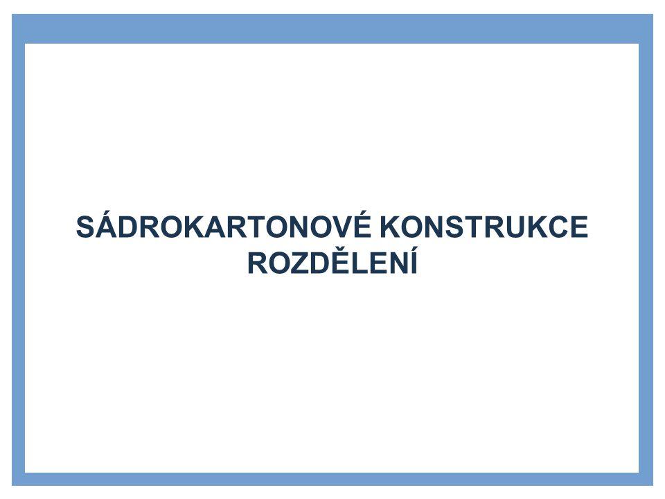 DESKOVÉ PODHLEDY »Deskové podhledy na dvojité podkonstrukci »přímý závěs »dvojitá podkonstrukce »sádrokartonová deska