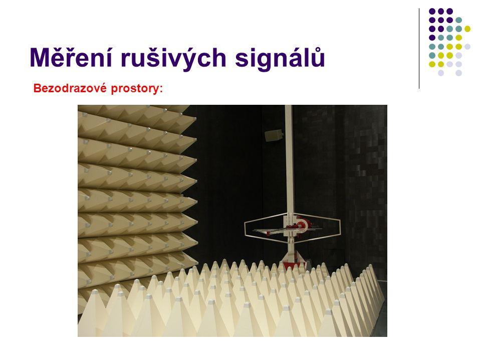 Měření rušivých signálů Bezodrazové prostory: