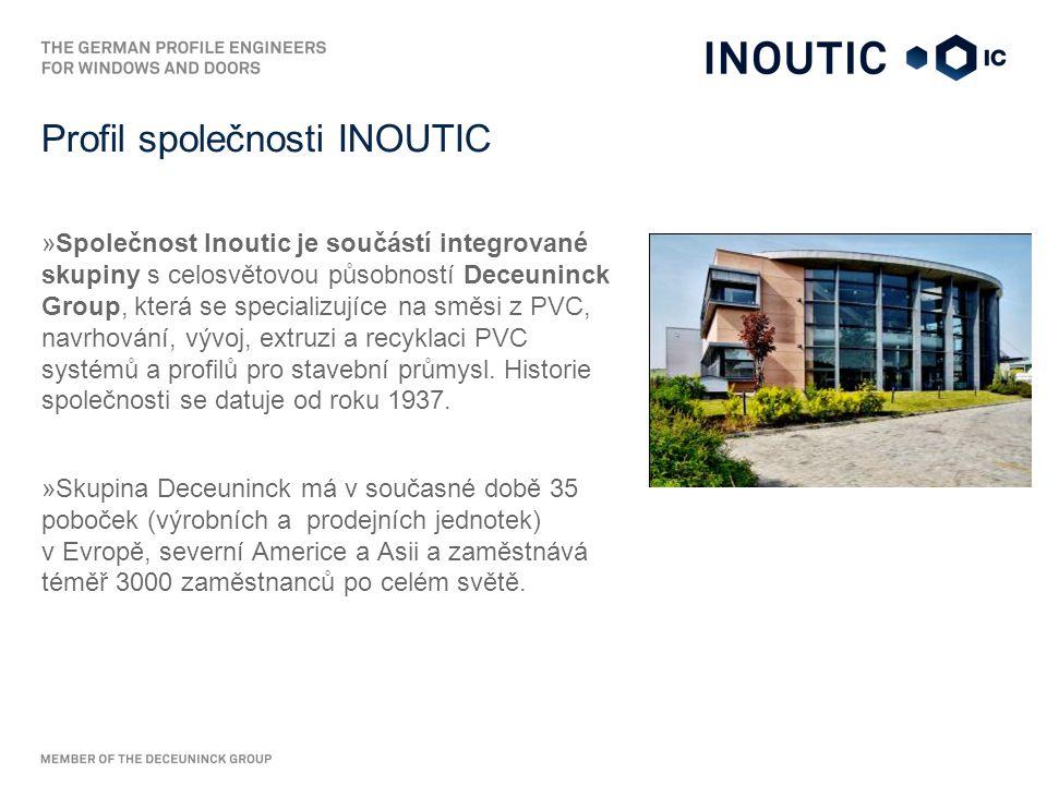 """Značka Inoutic """"Tell-the-Logo : »Propojujeme interiér a exteriér všech typů budov technicky precizními produkty pro unikátní konstrukční řešení."""