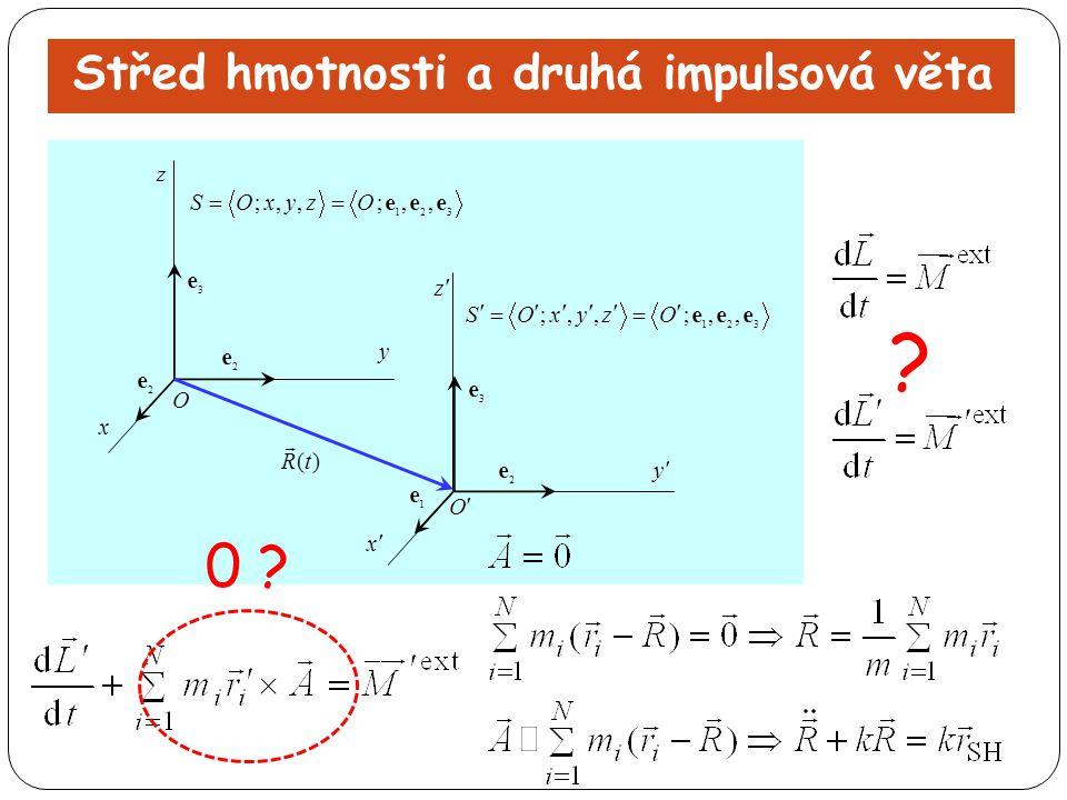 Střed hmotnosti a druhá impulsová věta ? 0 ?
