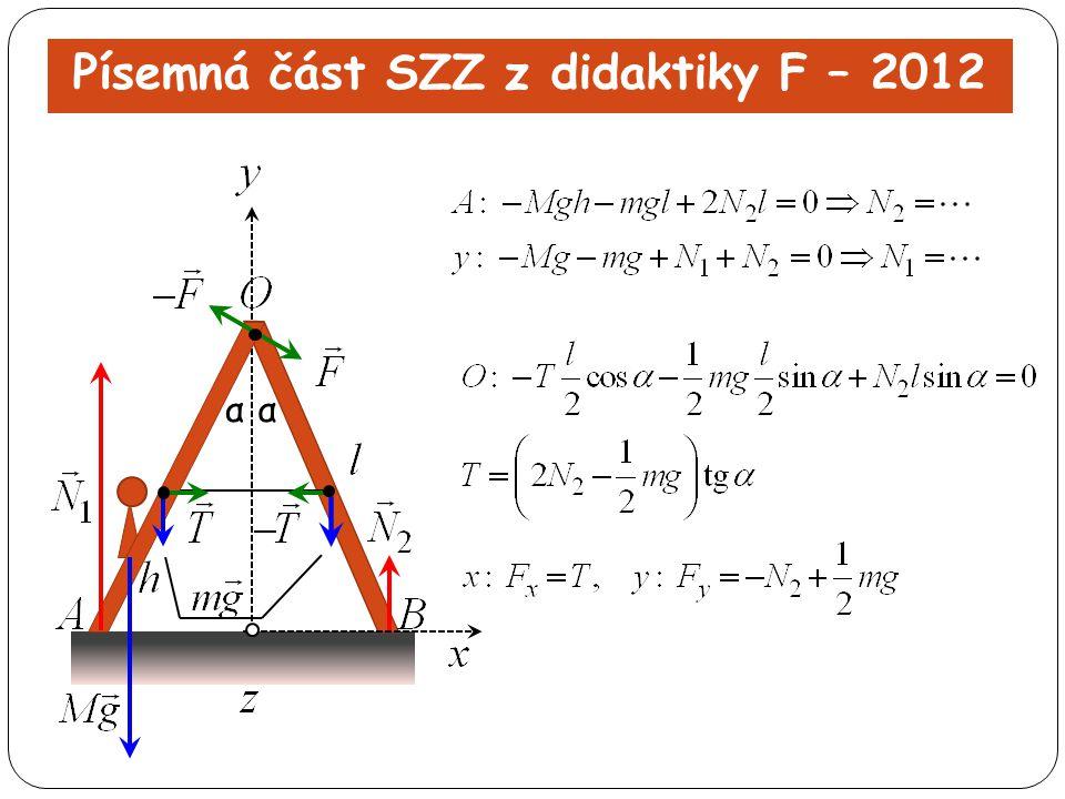 Písemná část SZZ z didaktiky F – 2012 αα