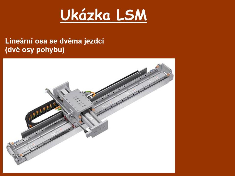 Ukázka LSM Lineární osa se dvěma jezdci (dvě osy pohybu)