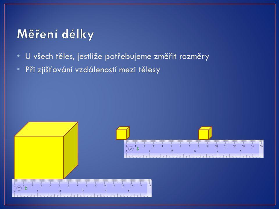 Pravítko Metr Skládací Svinovací Pásmo Posuvné měřítko Mikrometr Laserové měřítko Při měření vždy volíme vhodné měřidlo