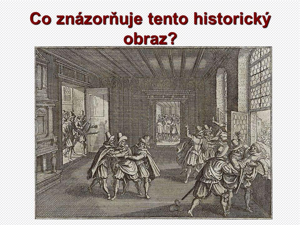 Co znázorňuje tento historický obraz?