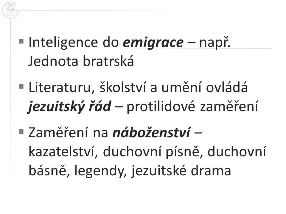  Inteligence do emigrace – např.