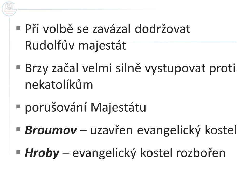  Reakce nekatolíků – Jaro 1618 – sjezd nekatolických stavů  3.