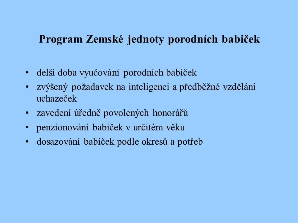 Organizace porodních asistentek po roce 1920 1922 – ustaven Mezinárodní svaz porodních asistentek 1923 – členem se stává i Ústřední jednota porodních asistentek 1924 – Sjezd v Praze, do čela zvolena p.a.