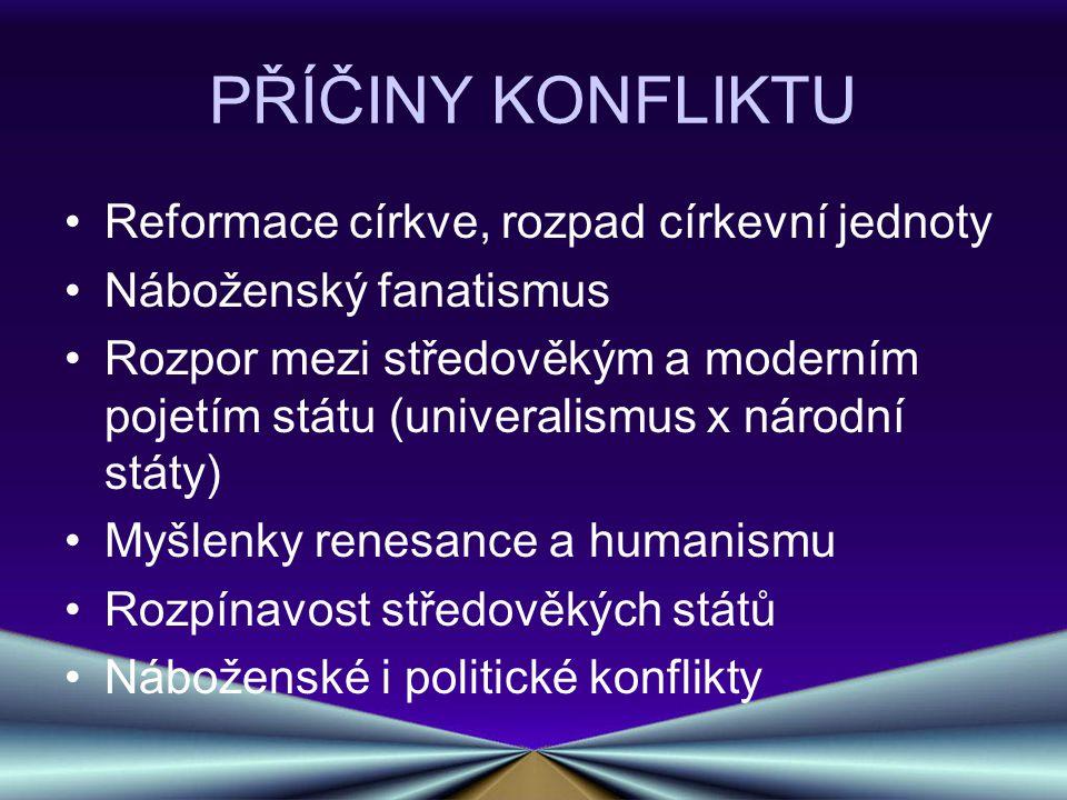 FÁZE VÁLKY I.FÁZE: válka česká (1618-1620) II. FÁZE: válka falcká (1620-1623) III.