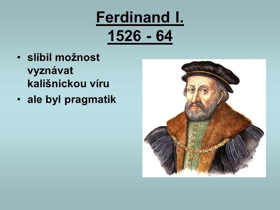 první stavovské povstání 1547 české stavy nepomohly Habsburkům ve válce v Německu po výhře Habsburků byla citelně potrestána města