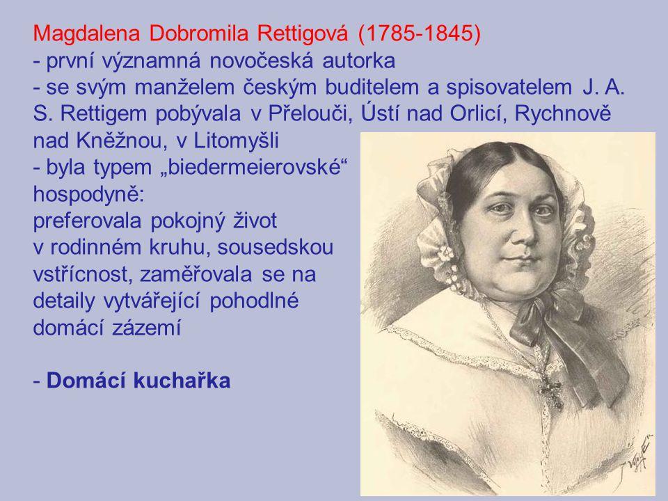 Magdalena Dobromila Rettigová (1785-1845) - první významná novočeská autorka - se svým manželem českým buditelem a spisovatelem J.