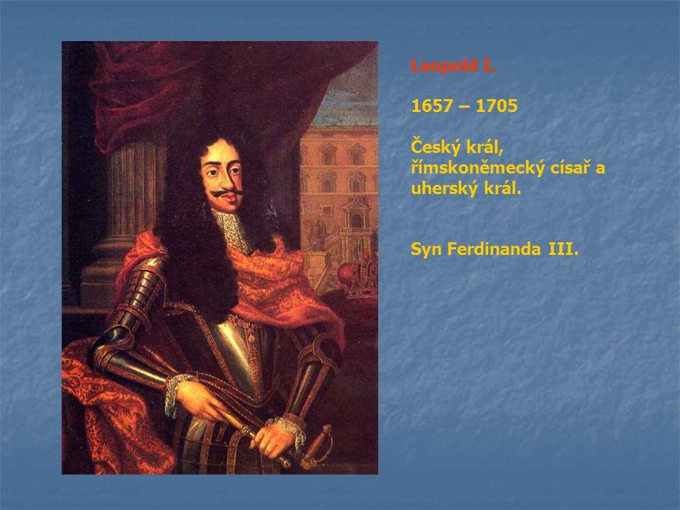 Josef I.1705 – 1711 Českým králem korunován nebyl.