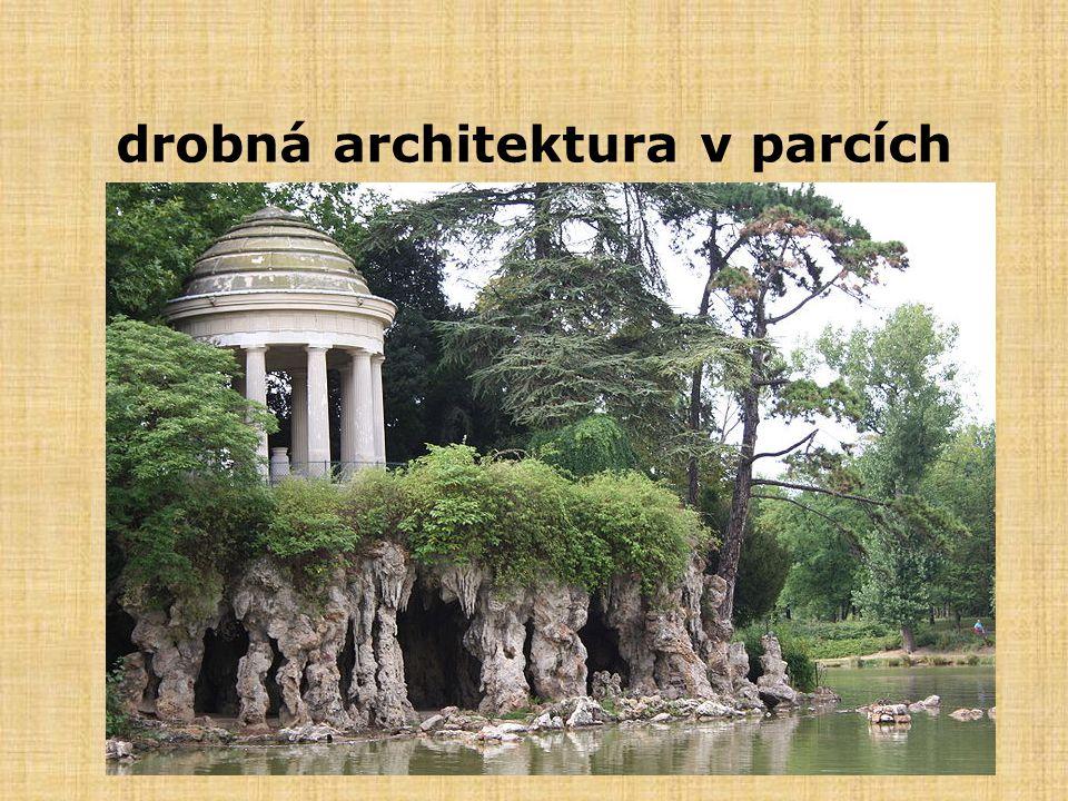 drobná architektura v parcích
