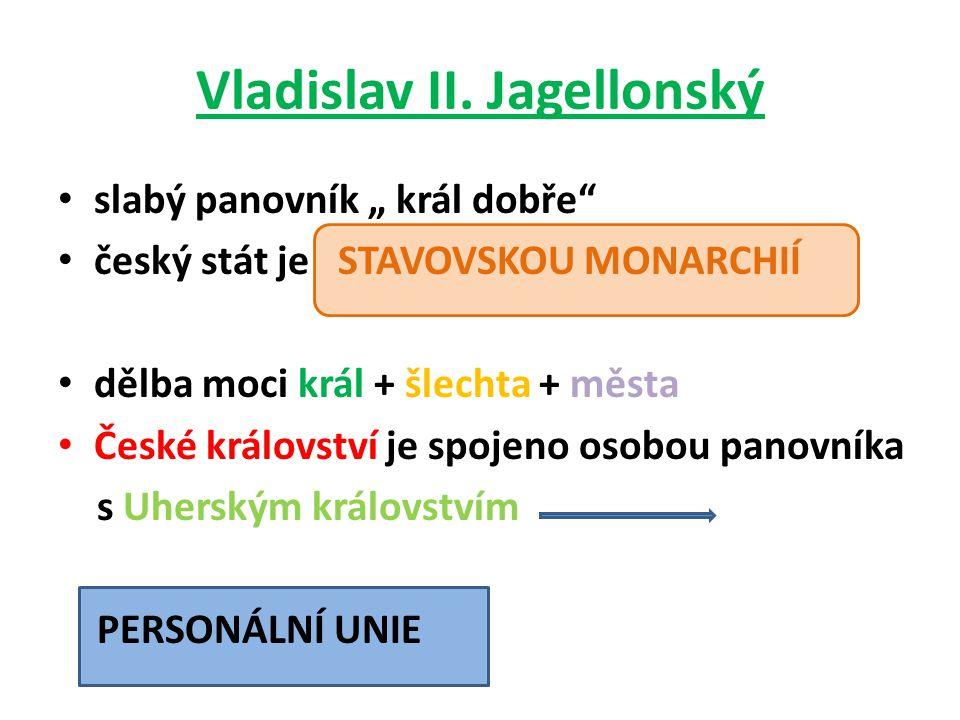 mapa personální unie Jagellonců Vladislav II.