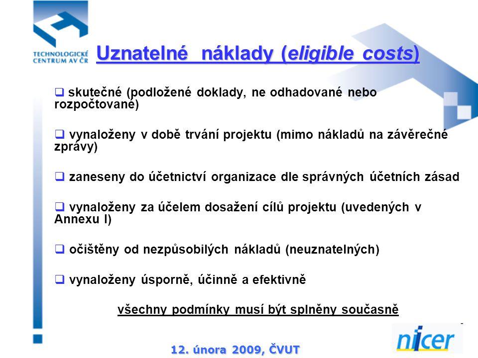 12.února 2009, ČVUT  veškeré identifikovatelné nepřímé daně (vč.