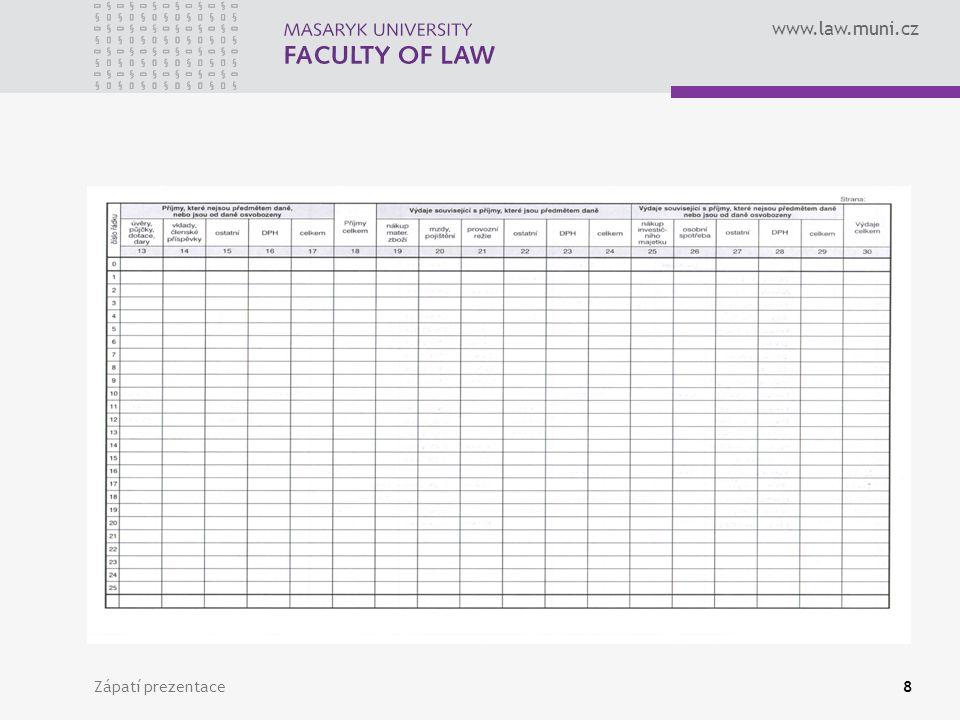 www.law.muni.cz Zápatí prezentace8