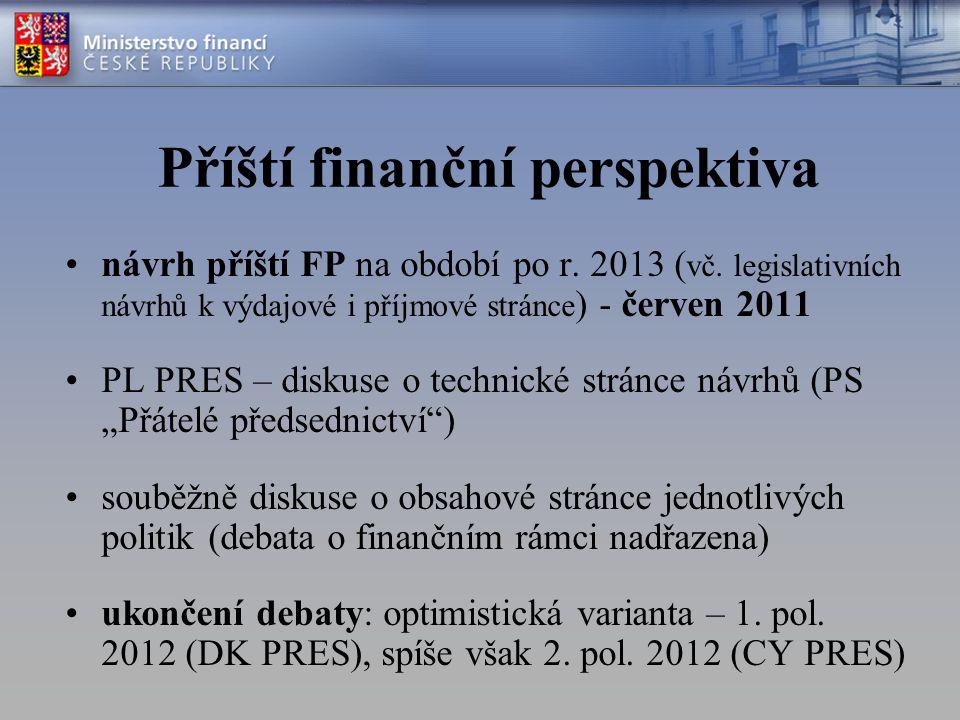 Příští finanční perspektiva návrh příští FP na období po r. 2013 ( vč. legislativních návrhů k výdajové i příjmové stránce ) - červen 2011 PL PRES – d