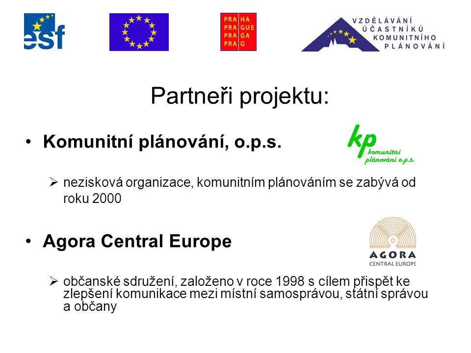 Partneři projektu: Komunitní plánování, o.p.s.
