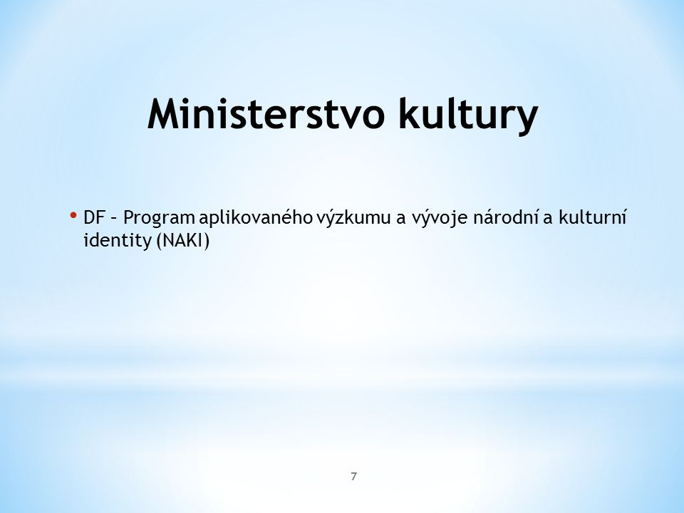 Ministerstvo průmyslu a obchodu OPPI FR – TIP 8