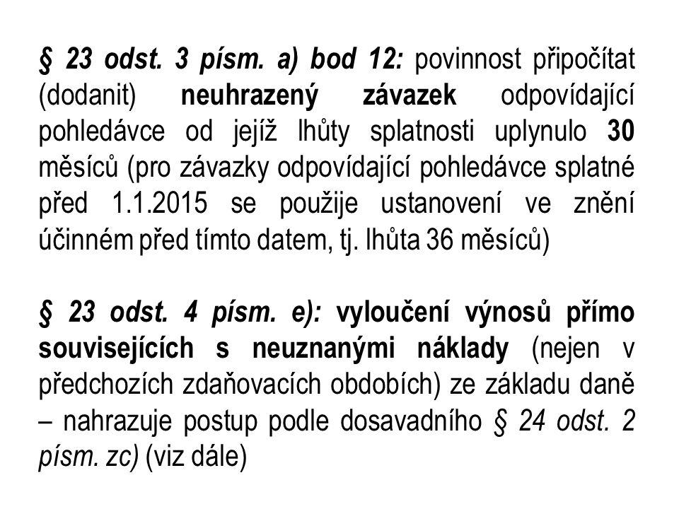 § 23 odst.3 písm.
