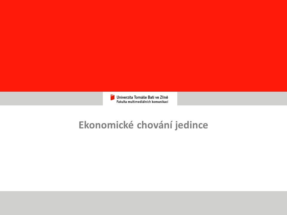 25 Ekonomické chování jedince
