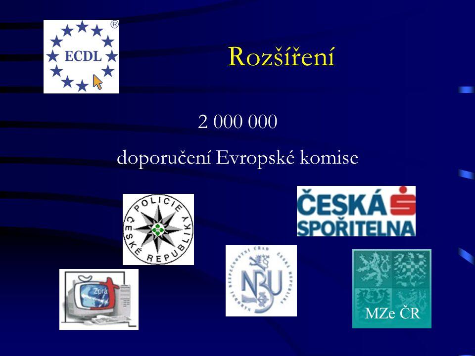 Rozšíření 2 000 000 doporučení Evropské komise MZe ČR