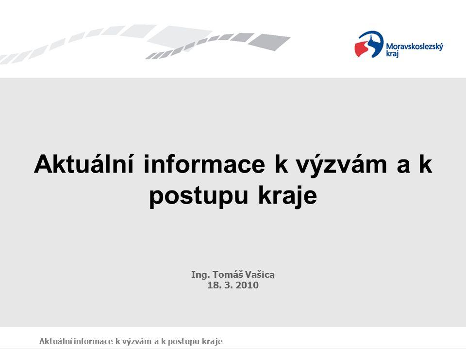 Aktuální informace k výzvám a k postupu kraje Ing.