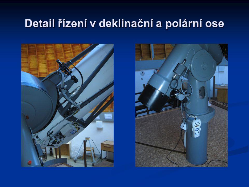 Detail řízení v deklinační a polární ose