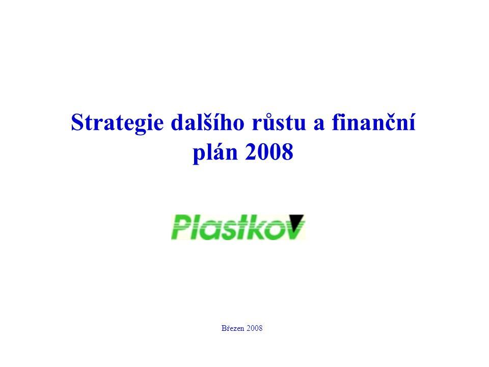 Strategie dalšího růstu a finanční plán 2008 Březen 2008