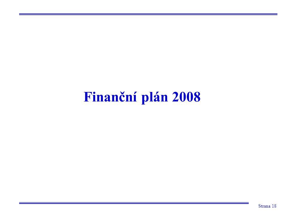 Strana 18 Finanční plán 2008