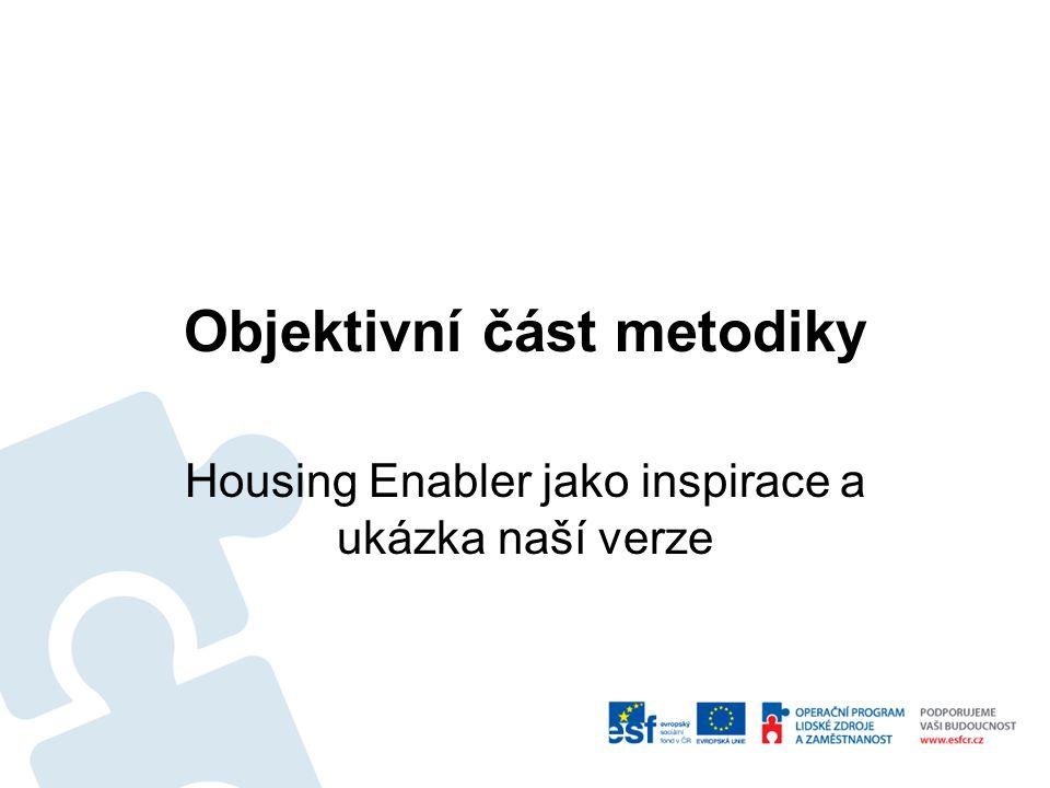 Objektivní část metodiky Housing Enabler jako inspirace a ukázka naší verze