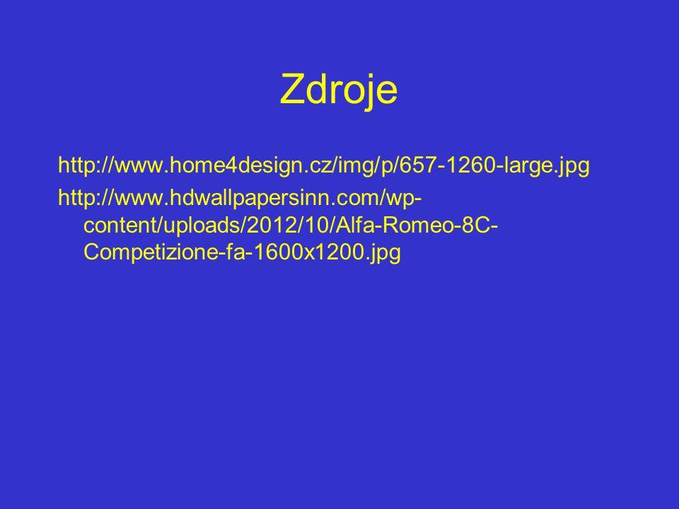 Zdroje http://www.home4design.cz/img/p/657-1260-large.jpg http://www.hdwallpapersinn.com/wp- content/uploads/2012/10/Alfa-Romeo-8C- Competizione-fa-16