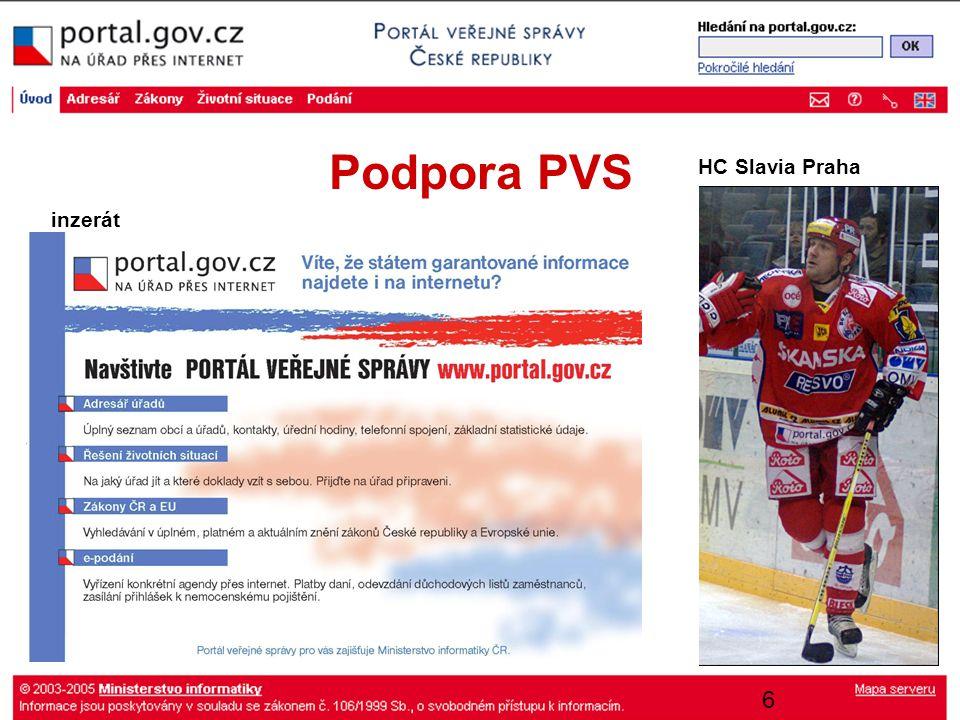 17 PVS - statistiky Pozn.: dle mezinárodních standardů IFABC Web Standards Committee