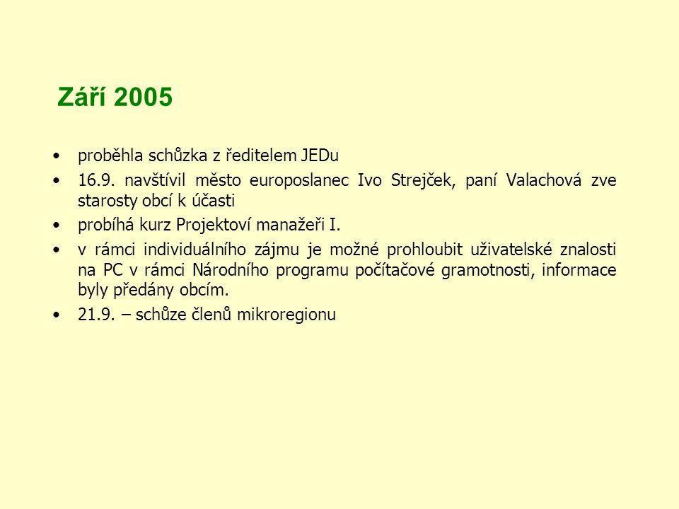 Září 2005 proběhla schůzka z ředitelem JEDu 16.9.