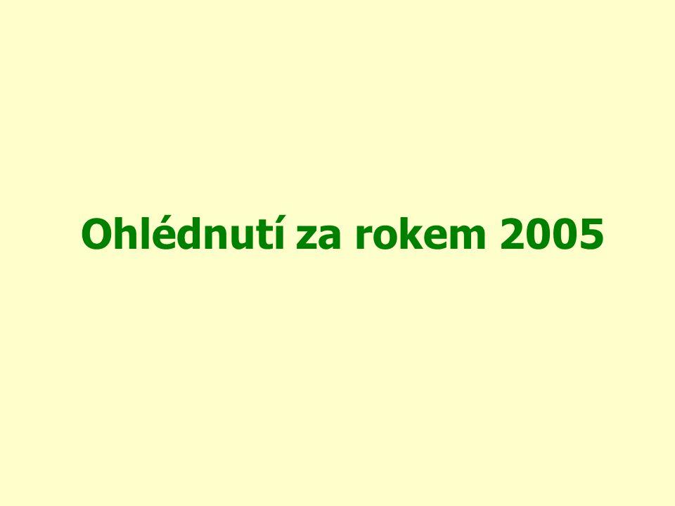 Únor 2005 Žádost o dotaci z PRV, DT 6 – na financování činnosti manažera, schváleno 50tis.Kč