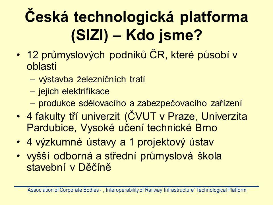 """Forma spolupráce Tato forma spolupráce je založena na na """"Operačním programu podnikání a Inovace – Spolupráce řízeného v ČR ministerstvem průmyslu a obchodu Program je schválen Evropskou komisí Association of Corporate Bodies -,,Interoperability of Railway Infrastructure Technological Platform"""