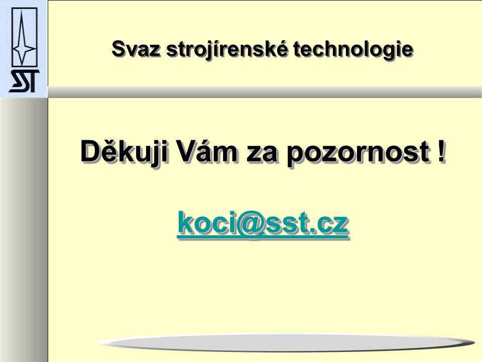 Děkuji Vám za pozornost .koci@sst.cz koci@sst.cz Děkuji Vám za pozornost .