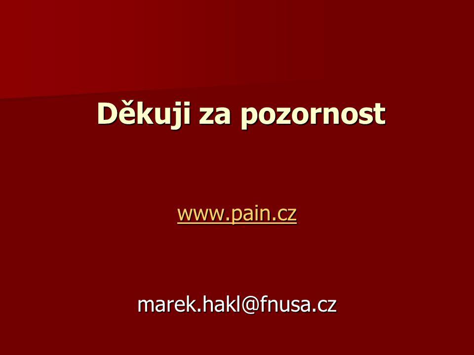 Děkuji za pozornost www.pain.cz marek.hakl@fnusa.cz