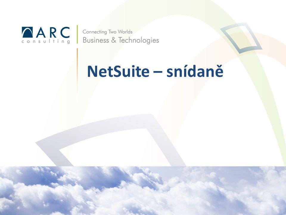 Reporty Vyhledávání Dashboardy SuiteAnalytics NetSuite: Product Demonstration 12