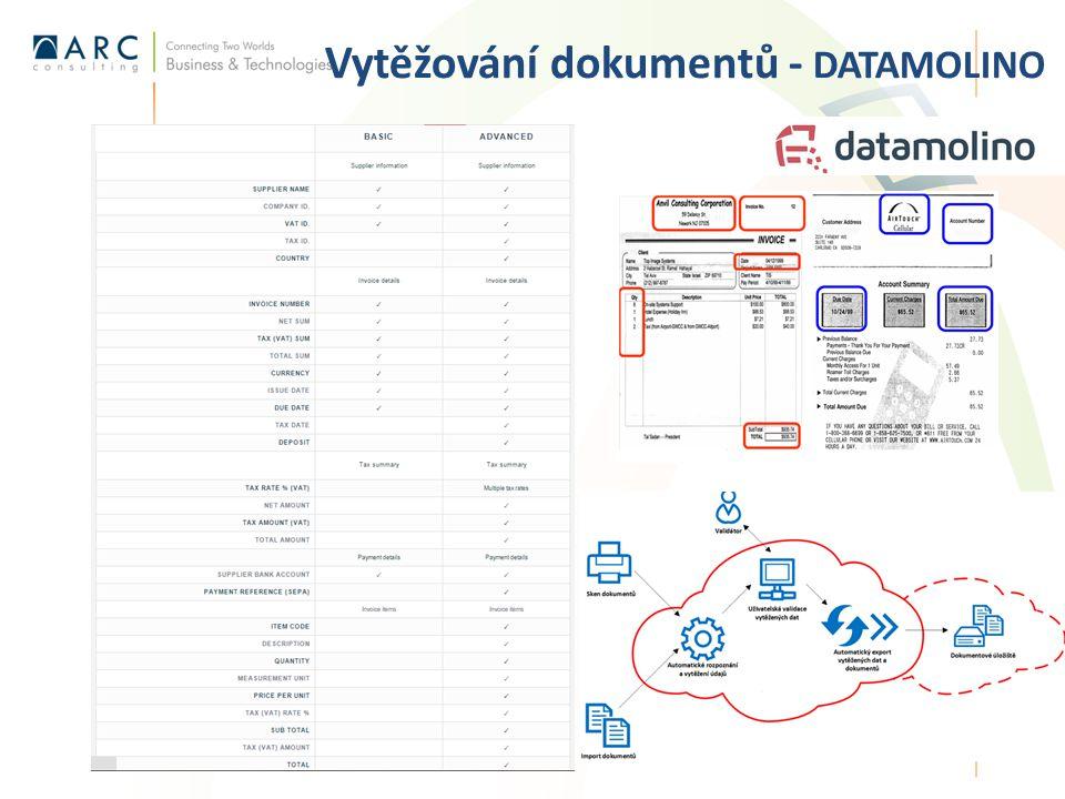 Vytěžování dokumentů - DATAMOLINO 14