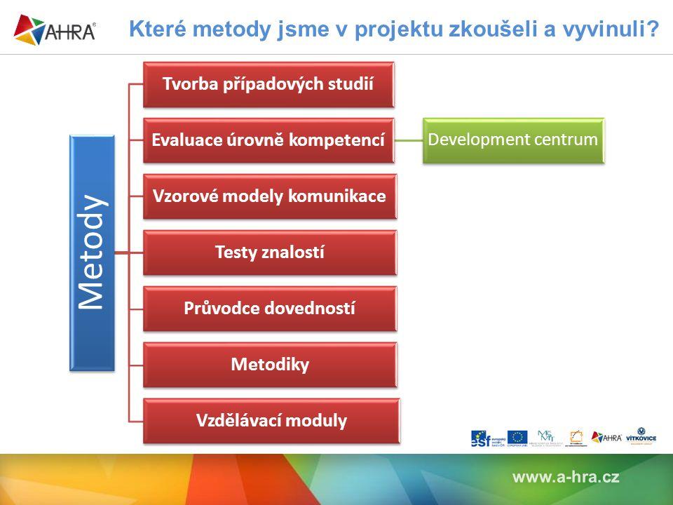Které metody jsme v projektu zkoušeli a vyvinuli.