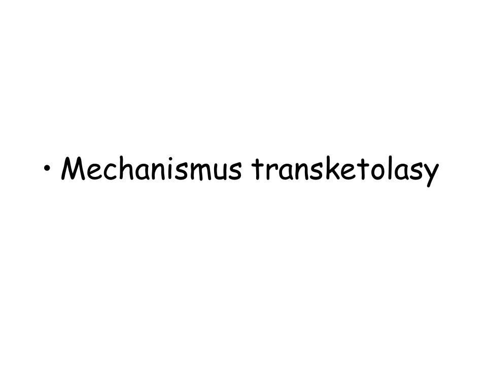 Mechanismus transketolasy