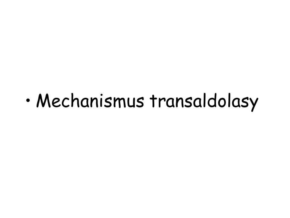 Mechanismus transaldolasy